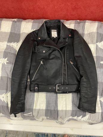 Кожаная куртка Zara xs