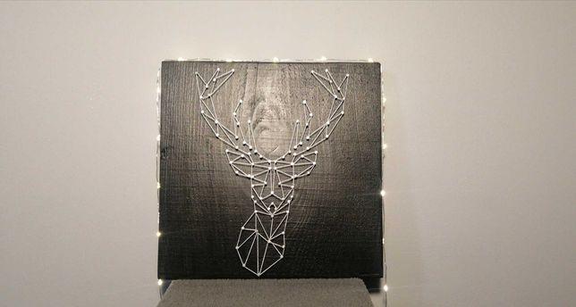 Obraz string art