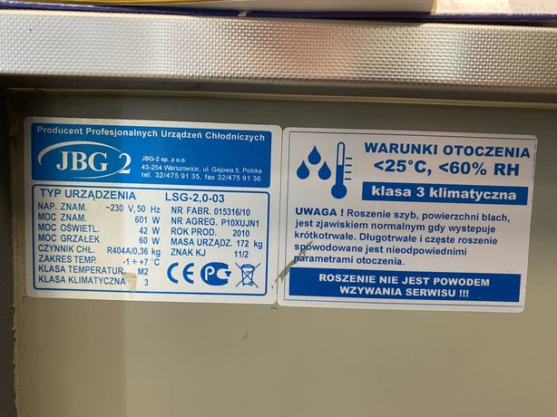 Lada chłodnicza JBG-2 model LSG-2, 0-0,3
