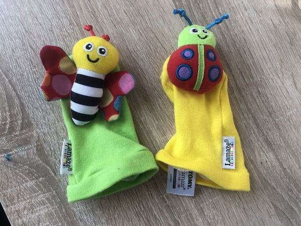 Игрушки носочки погремушки звенелки Lamaze и подарки