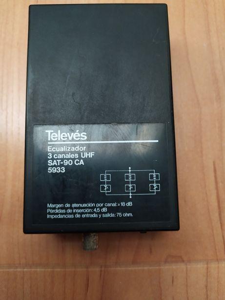 Televés Amplificador UHF 3 canais