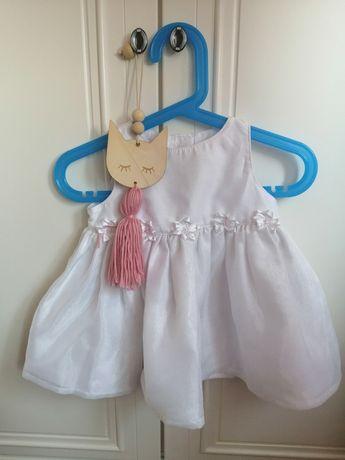 Sukienka na chrzest chrzciny 62  68 komplet zestaw