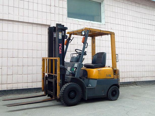 Вилочный погрузчик бу TCM FD15Z18, дизель (навантажувач).