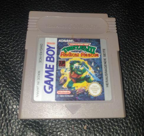 Gra Game Boy Turtles 3 Radical Rescue, mega rarytas