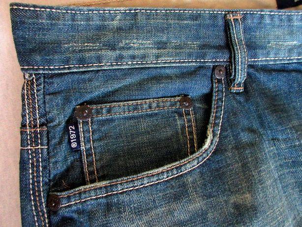 BAGGY nowe spodnie meskie jeansowe ECKO 32 34 LONG jeansy