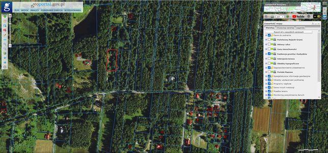 Działka Budowlana w lesie, Duchnów (koło Wiązownej Kościelnej)