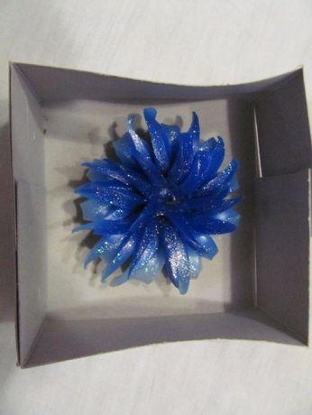 Декоративная свечка синий цветок
