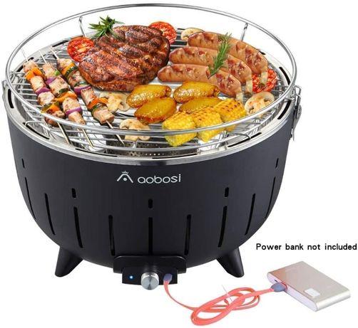 Угольный гриль с активной вентиляцией / Портативный гриль Aobosi CG08