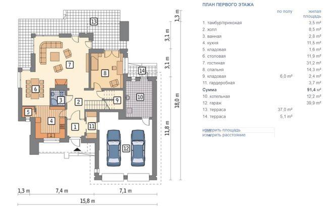 Проект дома Муратор М117а