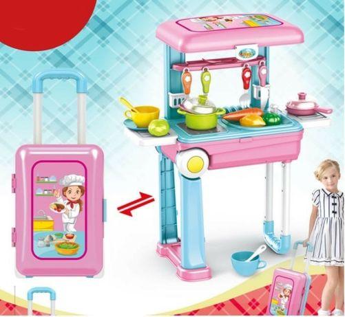 Детский набор 2in1 большая кухня в чемодане на колесах Happy Chef