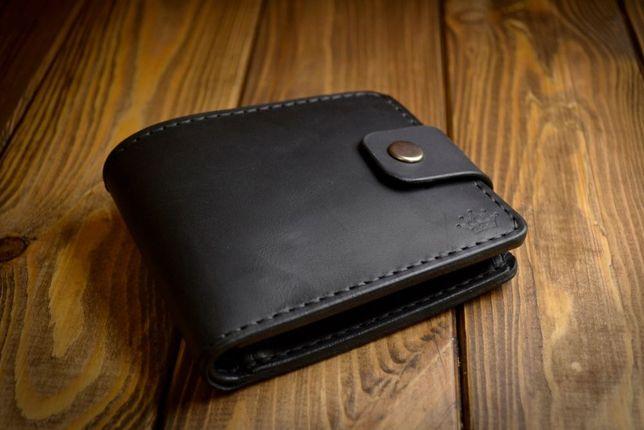 Мужское портмоне, кошелек из натуральной кожи ручной работы