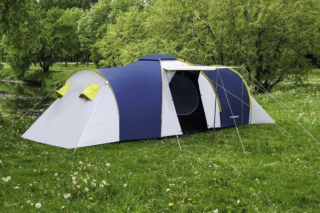 Туристическая палатка 6-ти местная Nadir Pro 6, синяя, клеенные швы