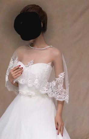 Koronkowe Bolerko do ślubu białe