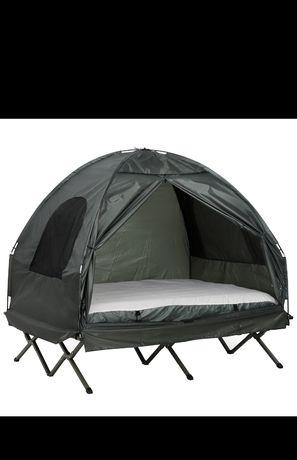 Namiot podwyższony, łóżko kempingowe