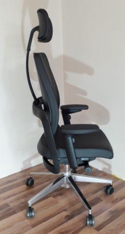 Krzesło obrotowe fotel biurowy XILIUM DUO BACK skóra naturalna
