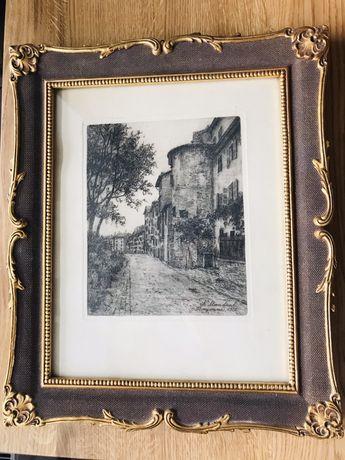Oryginalna grafika Karola Mondrala 1912 rok
