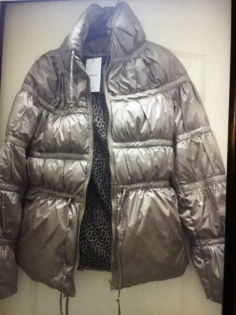 Женская куртка пуховик, MANGO, новая, размер xs, пиджак в клетку