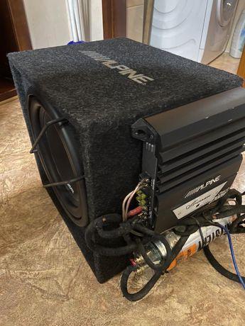 Сабвуфер з конденсатором та комплектом проводів