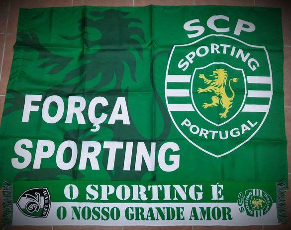 Bandeira + Cachecol Sporting....promo