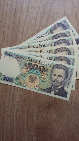 Banknot polski – 200 zł z 1988 r. - stan bankowy