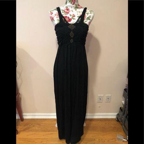 Sukienka Apricot S M L 36 38 40 czarna letnia maxi elegancka dekolt