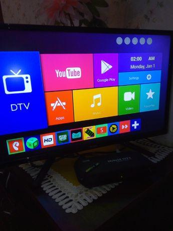Телевизор Saturn TV LED 22FHD 400U + смарт приставка + Т2