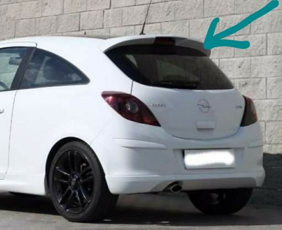 Aileron em fibra para Opel Corsa D