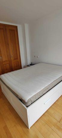 Cama 140x200cm + Colchão 140x200cm + Estrado IKEA