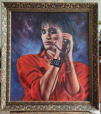 Портрет Виктора Цоя, холст, масло (50 x 63 см)