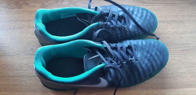 buty sportowe piłkarskie turfy nike czarne zielone rozmiar 41
