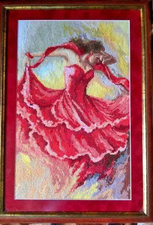Igłą malowane Ognista Hiszpanka