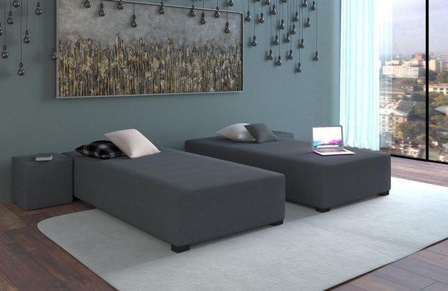 Łóżko jednoosobowe pojedyncze tapczan sofa kanapa materac a