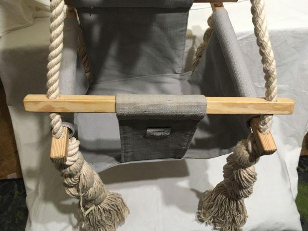 Huśtawka dla dziecka na sznurach. Bujaczek.