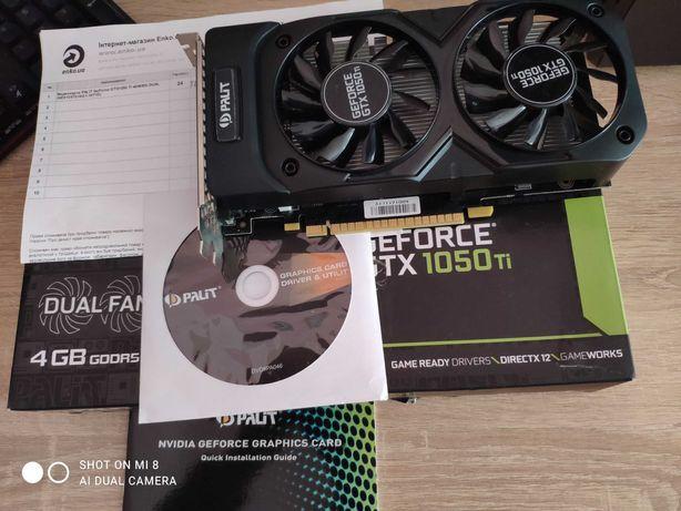 Відеокарта PALIT GeForce GTX1050 Ti 4Gb, DUAL FAN