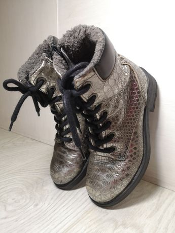Зимние ботинки сапоги для девочки 30 31 размер
