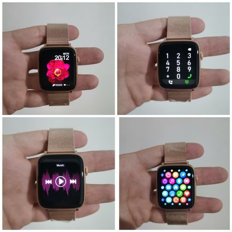 Smartwatch DT100+Pro 2 bracelets cor gold