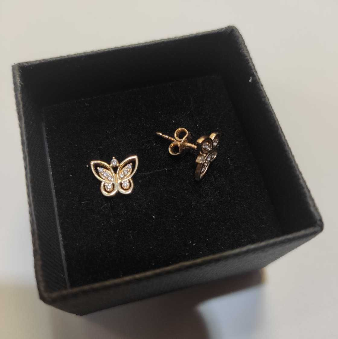 Kolczyki złote MOTYLKI dla dziewczynki pr.585 14KT Lombard Madej