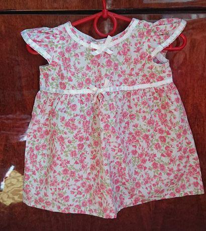 Лёгкое летнее платье 3-6м