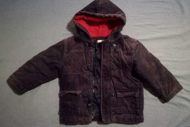 Sztruksowa kurtka 92-98 z przebarwieniami