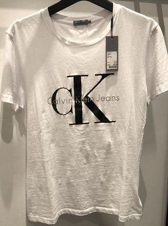 Calvin Klein bluzka koszulka t-shirt biały damski bawełna nowy