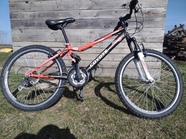 Rower 24 Cyote przeżytki schimano