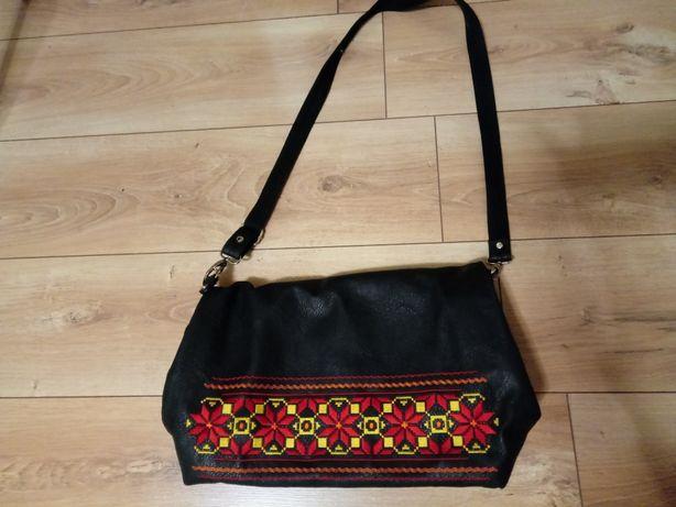Torebka plecak wyszywana
