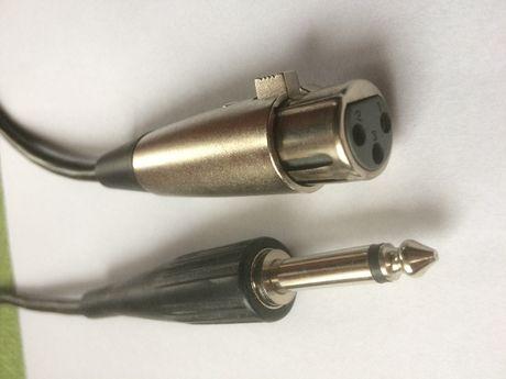 Przewód kabel profesjonalny XLR canon do mikrofonu , mikrofonowy