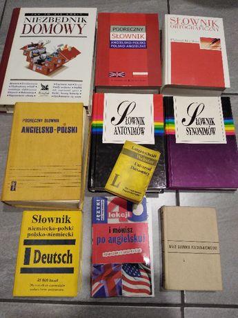 Zestaw 10 książek książki słowniki angielski niemiecki ortograficzny