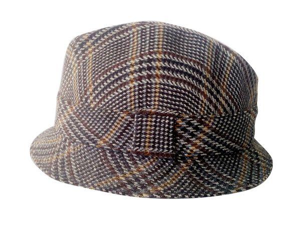 Стильная мужская шляпа из твида разные размеры