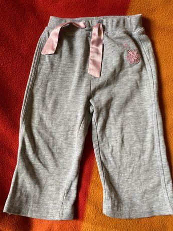 Spodnie dresowe 80-86cm 9-12 miesięcy