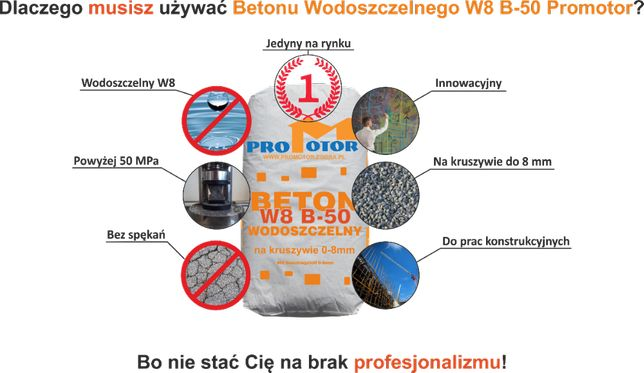 Beton Wodoszczelny B50 W8 w workach 25 kg