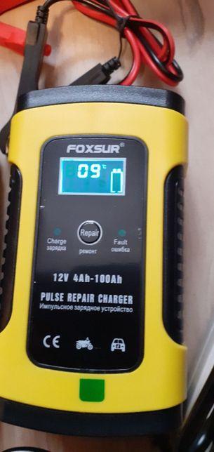 FOXUR Авто зарядное устройство для аккумулятора импульсное автомат