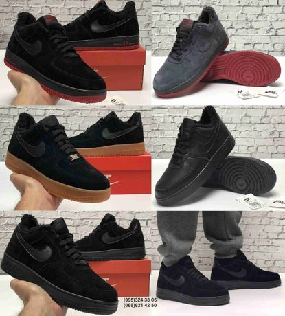 Зимние кроссовки ботинки Nike Air Force. Натуральная замша.