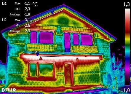 Badanie termowizyjne budynkow, oraz szczelnosci i ocieplenia.